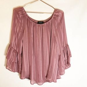 BCX pink and gold blouse size large